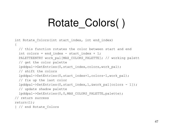 Rotate_Colors( )