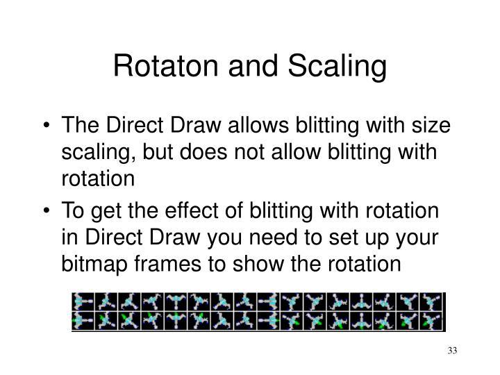 Rotaton and Scaling