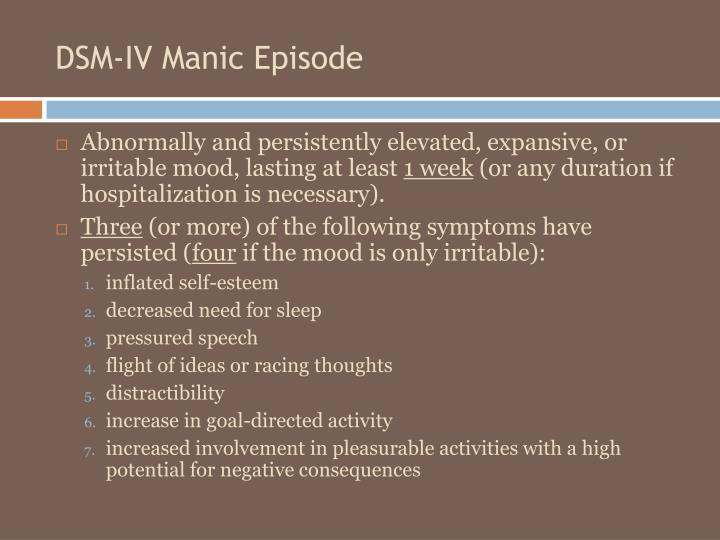 DSM-IV Manic Episode