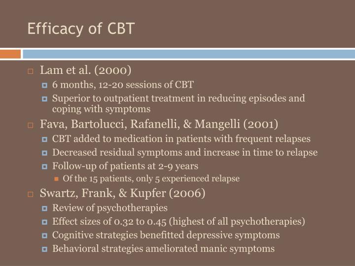 Efficacy of CBT