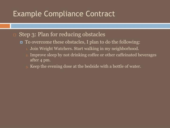 Example Compliance Contract