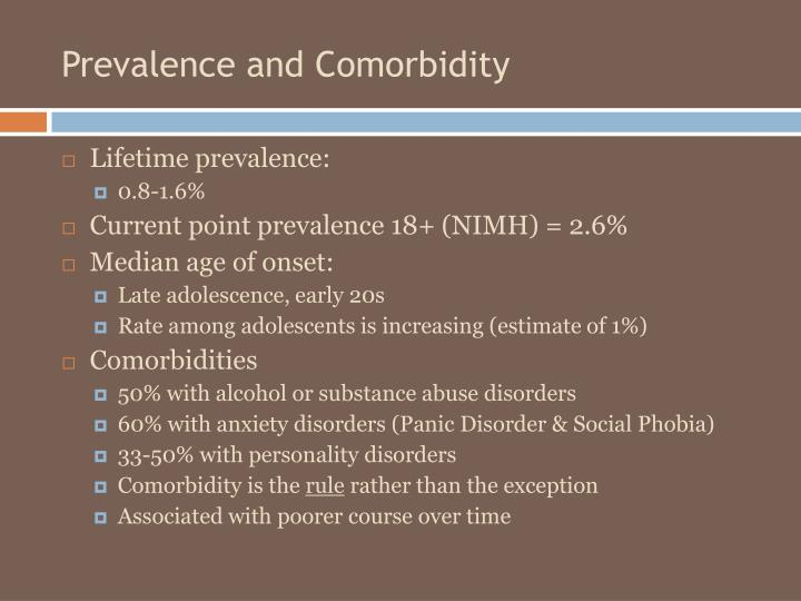 Prevalence and Comorbidity