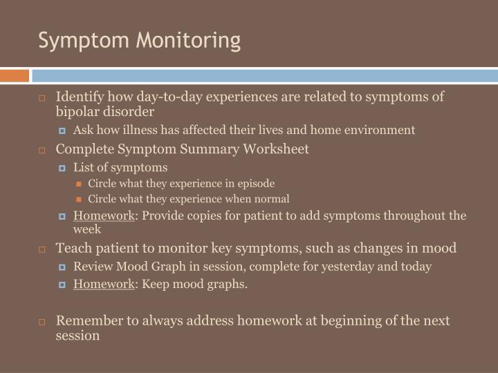 Symptom Monitoring