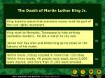 the death of martin luther king jr