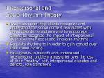 interpersonal and social rhythm theory1