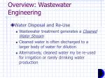 overview wastewater engineering2