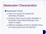 wastewater characteristics1