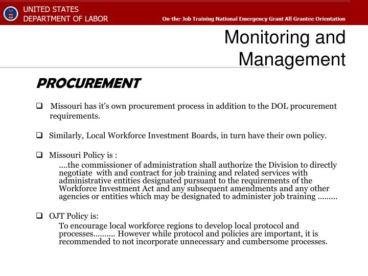 Monitoring and management1