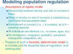 modeling population regulation