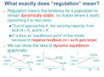 what exactly does regulation mean