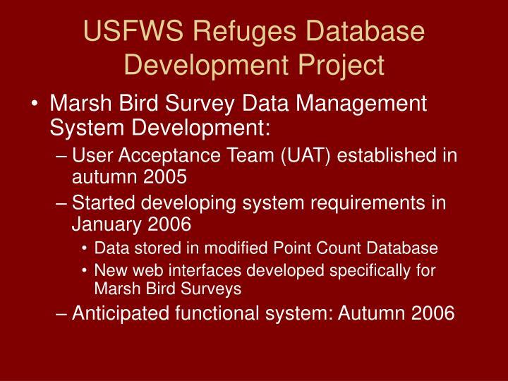 Usfws refuges database development project1