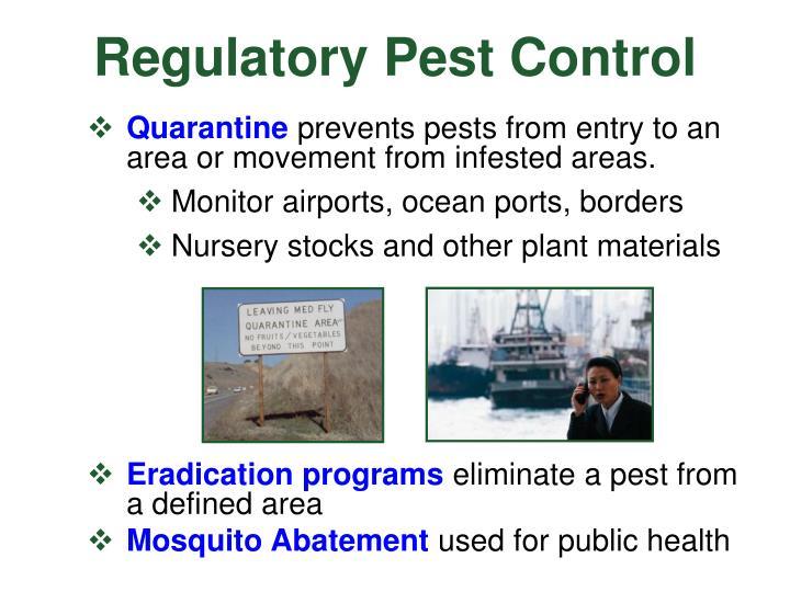 Regulatory Pest Control