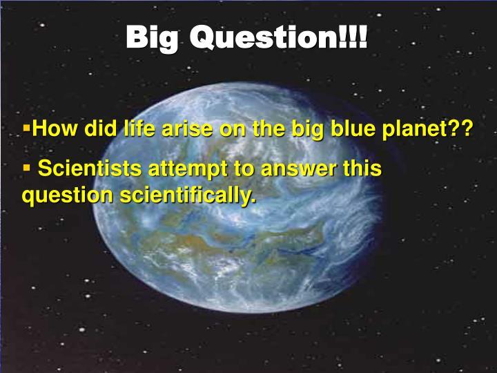 Big Question!!!
