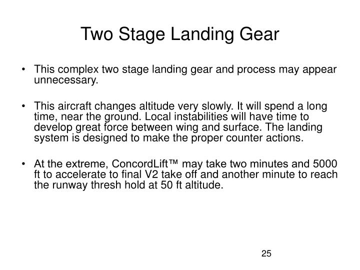 Two Stage Landing Gear
