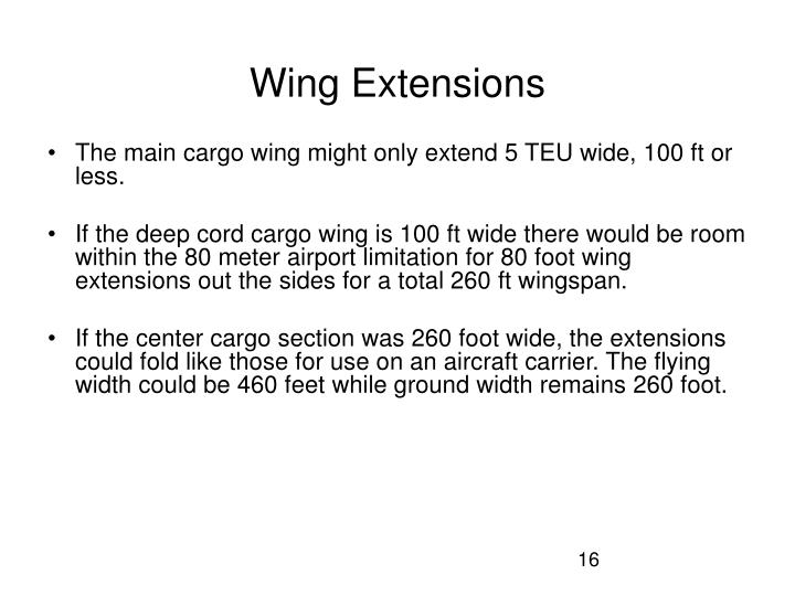 Wing Extensions