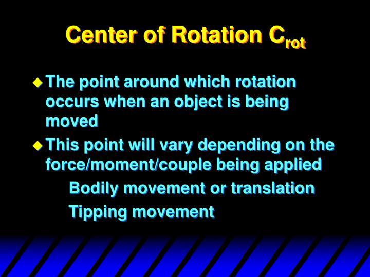 Center of Rotation C