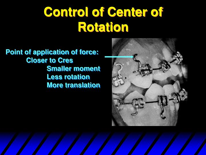 Control of Center of Rotation