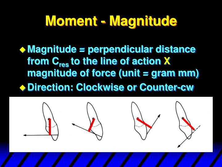 Moment - Magnitude