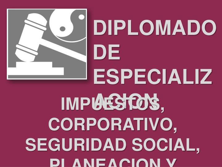 DIPLOMADO DE ESPECIALIZACION