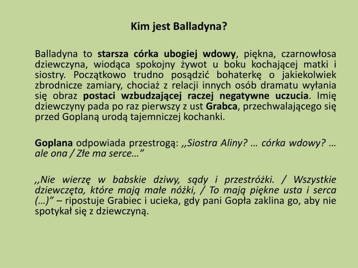 Kim jest Balladyna?