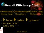overall efficiency cont