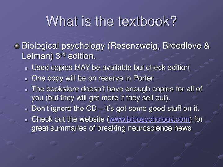 What is the textbook?