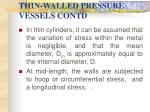 thin walled pressure vessels contd