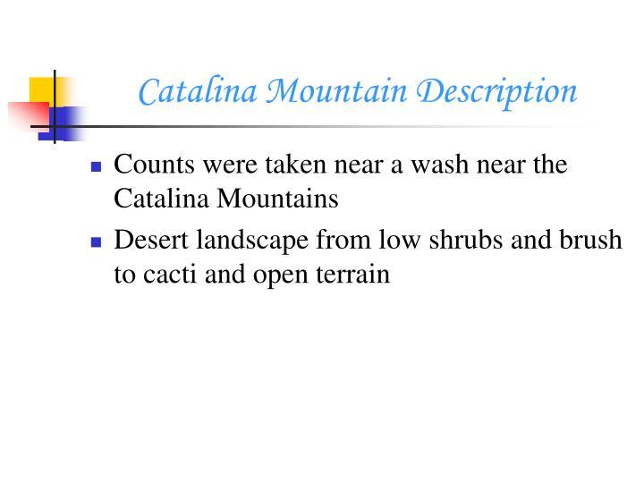 Catalina Mountain Description
