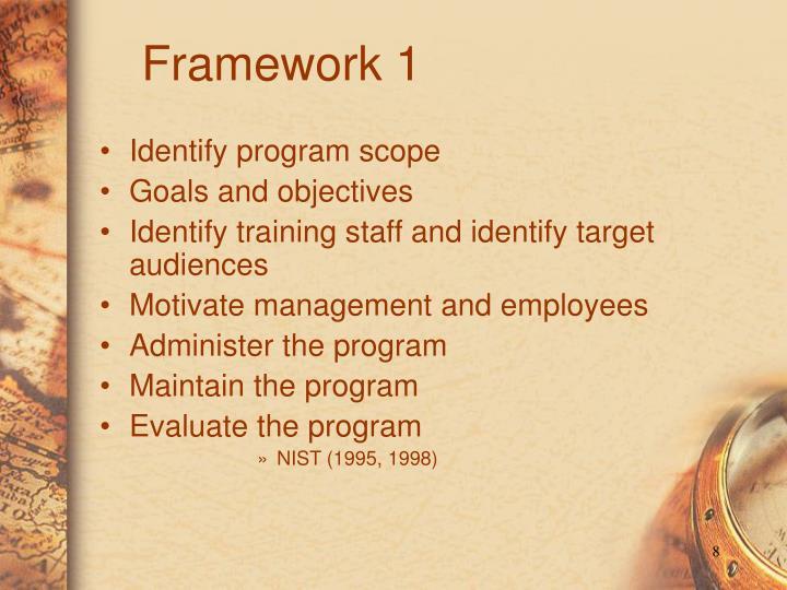 Identify program scope