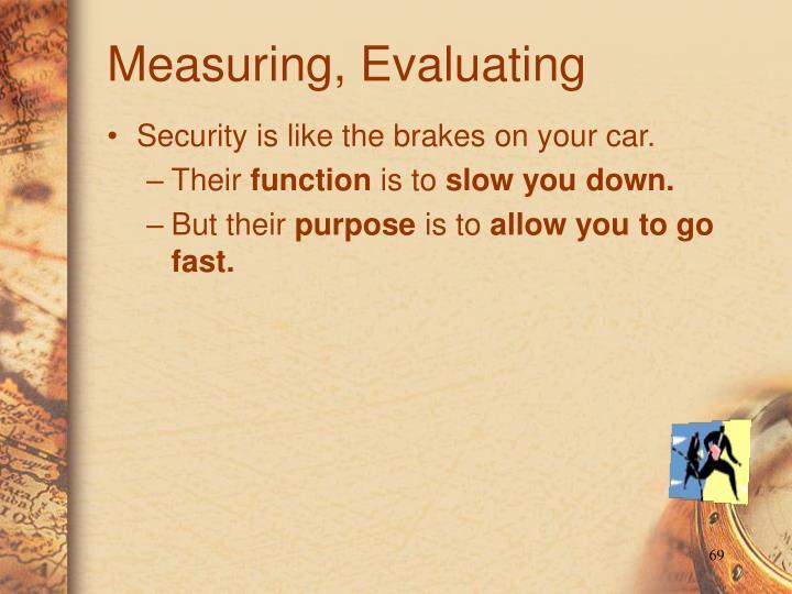 Measuring, Evaluating