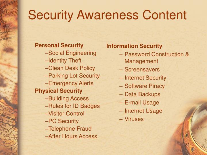 Security Awareness Content