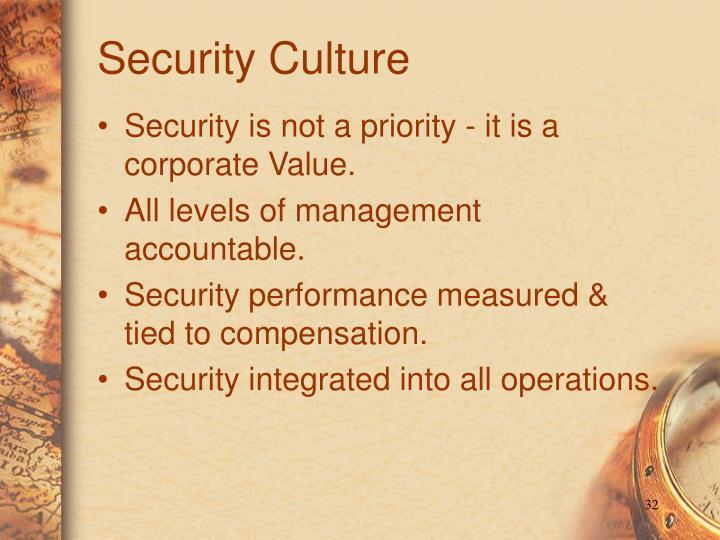 Security Culture
