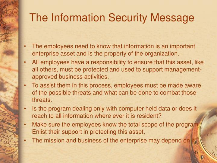 The Information Security Message