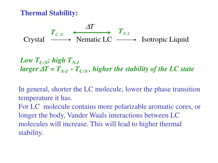 Thermal Stability: