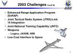 2003 challenges cont d