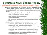 something new change theory