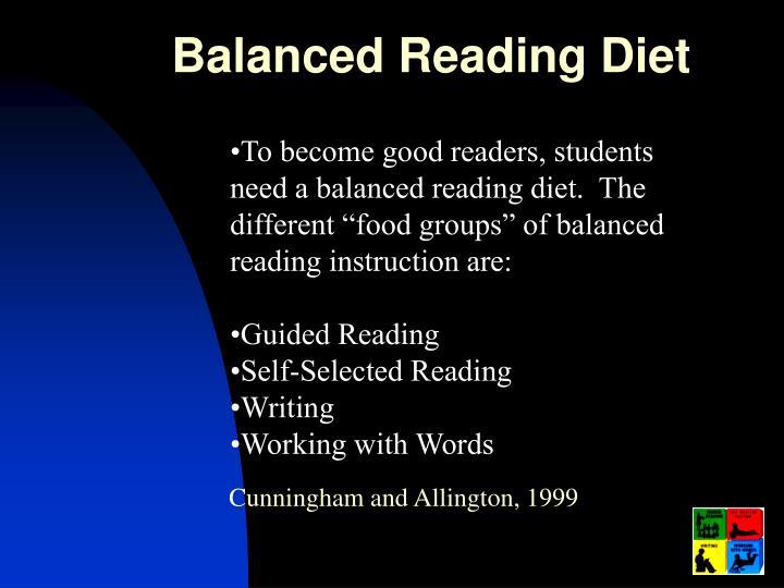 Balanced Reading Diet