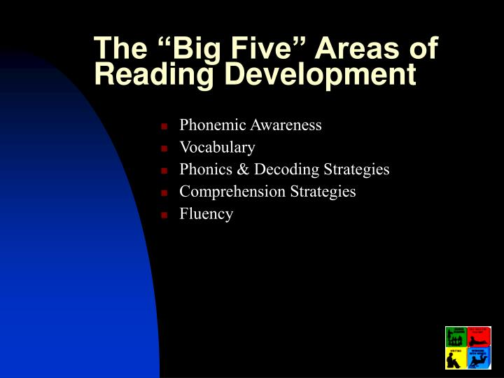 """The """"Big Five"""" Areas of Reading Development"""