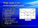 wide angle x ray scattering diffraction