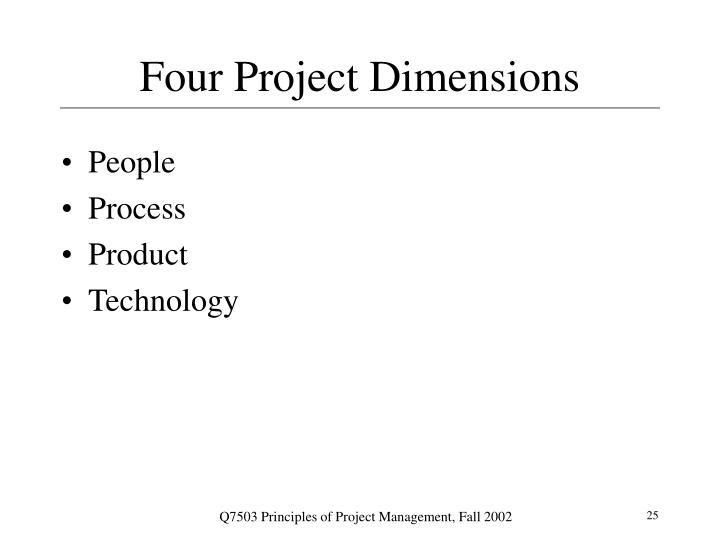 Four Project Dimensions