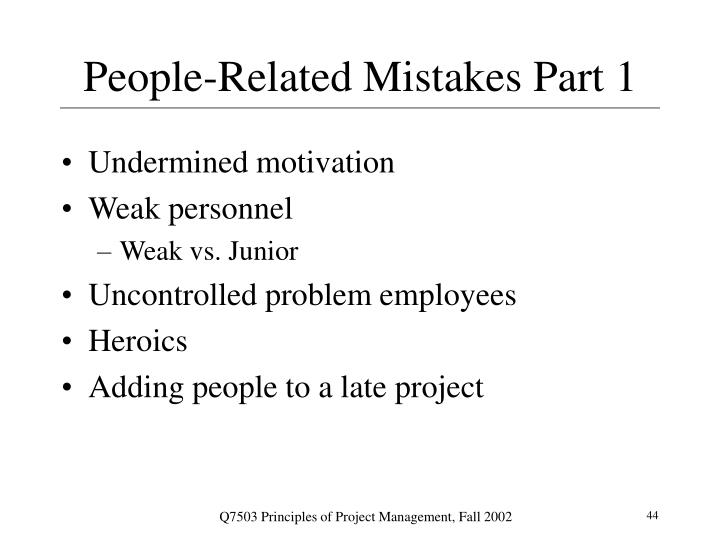 People-Related Mistakes Part 1