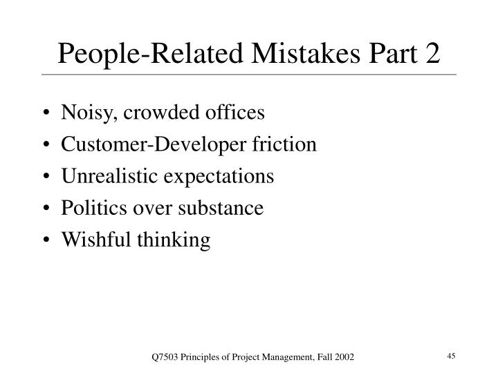 People-Related Mistakes Part 2