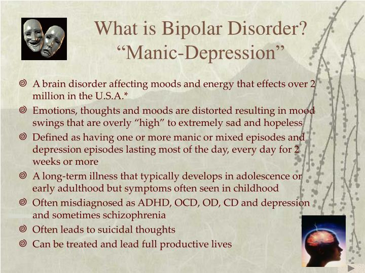 What is bipolar disorder manic depression