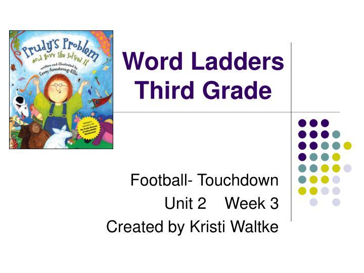 word ladders third grade n.