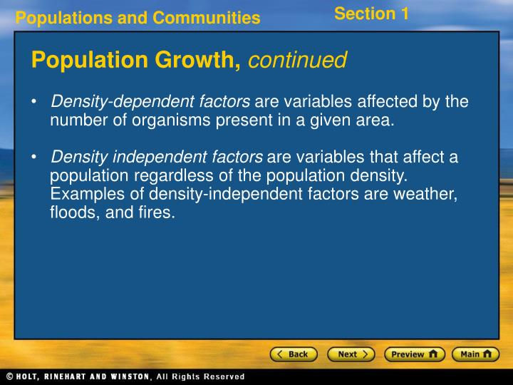Population Growth,
