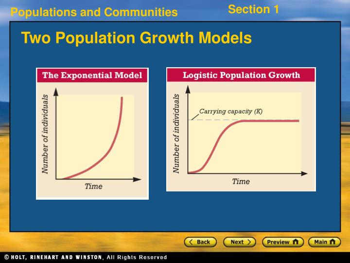 Two Population Growth Models