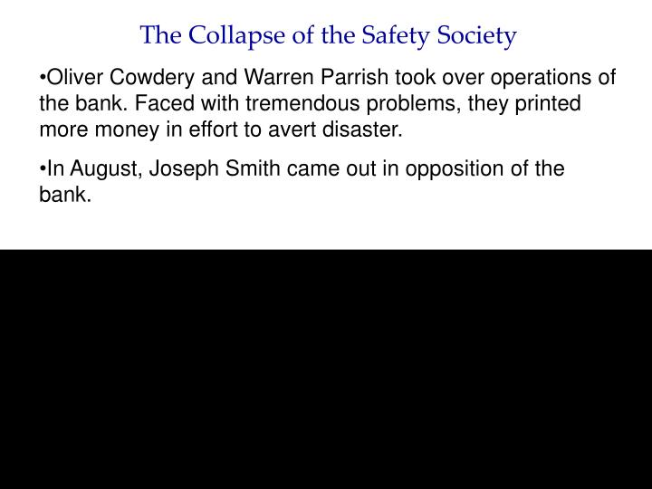 The Collapse of the Safety Society