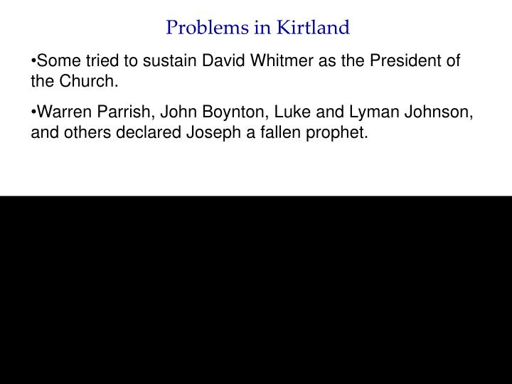 Problems in Kirtland