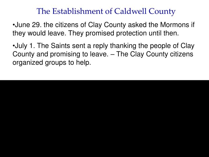 The Establishment of Caldwell County