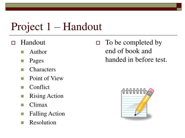 Project 1 handout